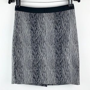 ANN TAYLOR | Patterned Lined Pencil Mini Skirt